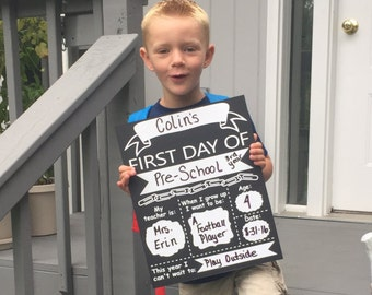 First Day of School/Last Day of School Sign for Photo Prop