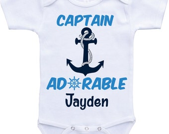 Captain Adorable Onsie Personalized baby boy gifts custom baby onsies personalized boy gift custom baby boy onesie personalized boy onesie