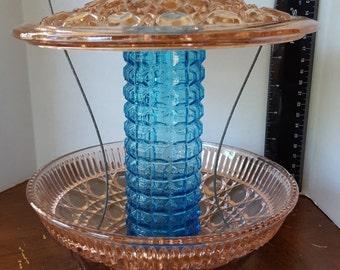 Antique Candy dish Bird feeder