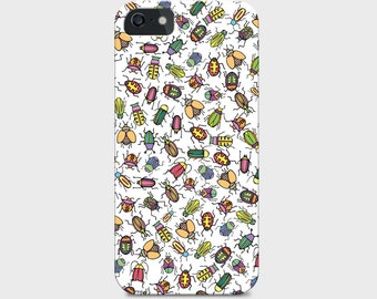 Hand-drawn Bug Pattern iPhone Case (5c, 5s, 6 and 6s available)
