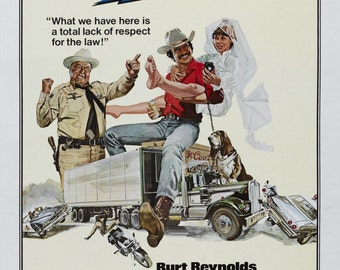 Smokey and the Bandit Movie POSTER Burt Reynolds 70's