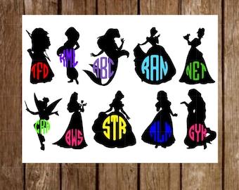 Magic Band Decals | Princess Decals | Disney Band Decals | Monogram Magic Band