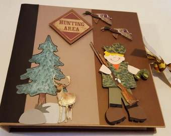Premade Hunting Mini Scrapbook Album