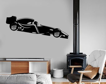 Wall Vinyl Decal Formula 1 Karting Racing Speeding Super Kart Decor 1327dz