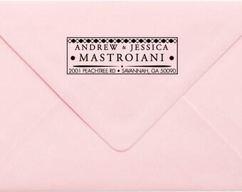 Custom Return Address Stamp, Wedding Address Stamp, Change of Address Stamp, Modern Address Stamp, Wedding Shower Gift, Teacher Gift 501