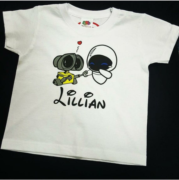 Wall e custom kids t shirt by itsyourtshirtco on etsy for Custom kids t shirts