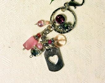 Rhinestone Keychain, Key Chain, Womens Keychains, Keychains for Women, Girls Keychain, Beaded Keychain, Keychain, Key Chain, Pretty Keychain