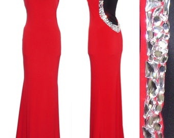 Red evening gown/ Red prom dress/ Red official dress/Black official dress/Long dress with bare back and straps/ Red carpet dress