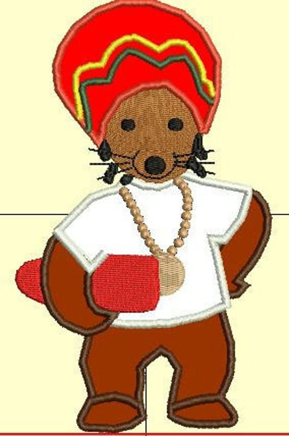 Rastamouse applique design from debonairs embroidery on