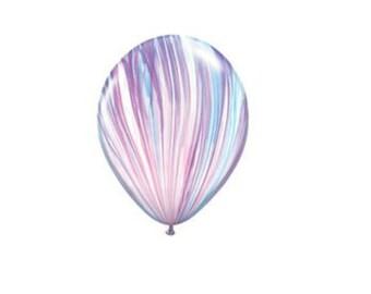 """Purple marble latex balloon 11"""". Tye dye balloon. Marble balloons. Rainbow balloons. Pink balloons. 11 inch balloons. Agate balloons."""