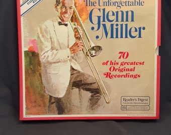 The Unforgettable Glenn Miller 6 Disc Vinyl Record Set 70 Greatest Original Recordings Collector's Edition Box Set Reader's Digest Vintage