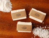 Natural Sea Salt Exfoliating Soap Bar with Sea Kelp and Essential Oils - Palm-Oil Free Salt Bar