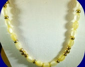 Vintage Napier Faux Ivory and Gold Choker Necklace