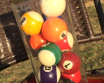 Vintage Set of 12 and a Cue ball, Pool Balls