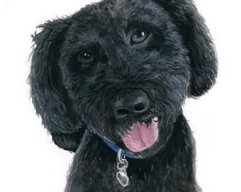 CUSTOM ANIMAL PORTRAIT 5x7 Watercolor - Custom Pet, Pet Portrait, Pet Painting, Animal Painting, Custom Animal