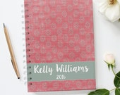 Personalized Bullet Journal. Writing Journal. Spiral Bound Journal
