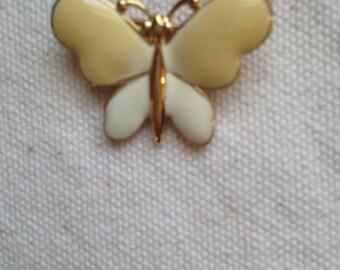 SALE: Enamel Butterfly Brooch PIn, Vintage Butterfly pin,  Butterfly pin, Monet pin, Enamel Brooches,  enamel brooches and pins, Butterflies