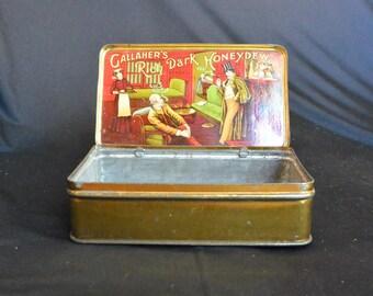 Vintage Tobacco Tin, Gallaher's Rich Dark Honeydew, Gentleman's Club Graphics