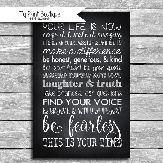 8x10 / 24x36 Inch Inspirational Poster Size By MyPrintBoutique