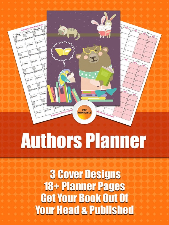 Authors Planner   22 Page Author Planner, Research, Plan, Scope Out Your Book, Track Sales and Promos, Printable Planner, Instant Download