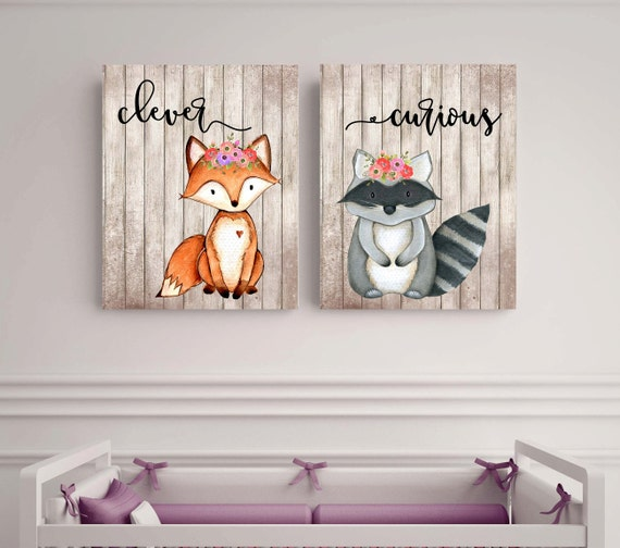 Woodland animals fox nursery woodland theme woods1 for Animal themed bathroom decor