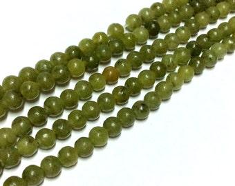 4mm Lemon Jade Gemstone Beads - 14.5inch Full strand - Round Gemstone Beads