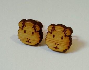bamboo earrings guineapigs