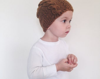 Cable Textured Knit Toddler hat