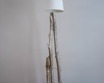 "Light Driftwood / Driftwood lamp / Base concrete / Concrete ""Golden"""