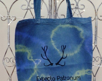 HARRY POTTER Tie Dyed, Tote Bag- 'Expecto Patronum'