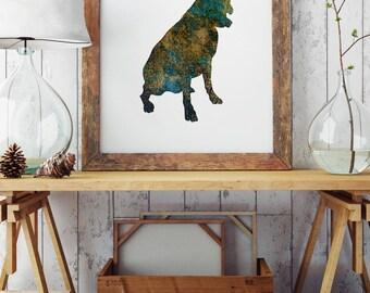 Dog Wall Art - Paper Print - Wall Poster - Dog Art Print - Dog Illustration