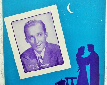 Vintage Bing Crosby Sheet Music 1945, It's Been a Long Long Time. Recorded with Les Paul and his Trio on Decca, Music Memorabilia