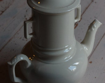 French Porcelain Cafetiere or Coffee Maker