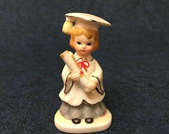 Vintage Lefton China Little Girl Graduate Figurine
