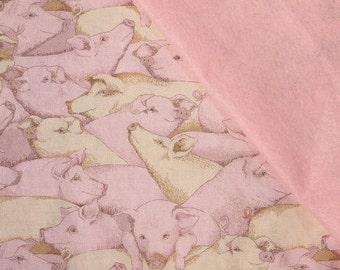 Pigs! Pet Blanket, Pig Blanket, Mini Pig Blanket, Fleece Blanket, Kids Blankets, Farm Animal Fabric