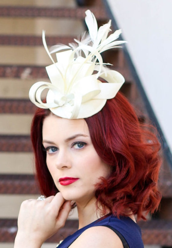 British wedding hats for women fascinators ivory for Housedesigner com plans