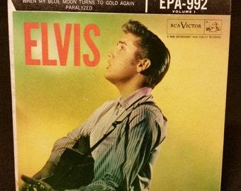 RCA Victor 1956 Elvis Presley EPA 992 Elvis Volume 1 45 rpm Vinyl Matrix Number WH7210-1S RARE