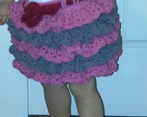 crochet ruffled skirt.  Little girl crochet skirt