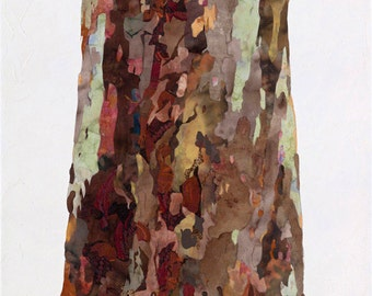 41x76cm Giclee Print of a Tree Grows in...Mixed Media Painting on Canvas