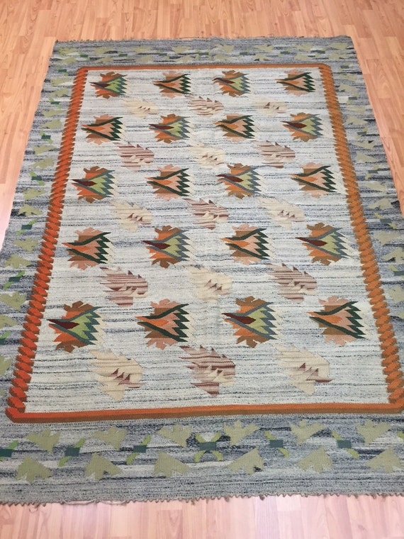 "4'9"" x 6'9"" Turkish Bessarabian Kilim Oriental Rug - Hand Made - 100% Wool"