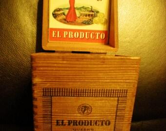 Vintage Wooden Cigar Box
