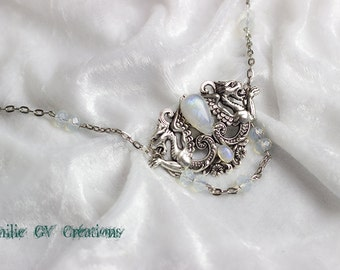 DRAGON Medieval magical MOONSTONE NECKLACE
