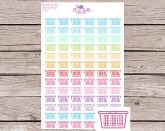 Laundry Basket, Washing Basket Sticker || Planner Stickers | Happy Planner, Erin Condren, Plum Planner - 245