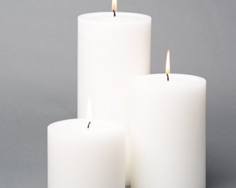 """18 White Pillar Candles White Unscented 4x4"""" 4""""x6"""" & 4""""x9"""", Bulk set White Candle,  Candle Gfft, Bulk Pillar Candles,cute candle wedding set"""