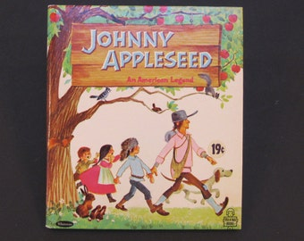 JOHNNY APPLESEED Whitman Tell a Tale book Solveig Paulson Russell Elfreda 1967  hardback New!!!