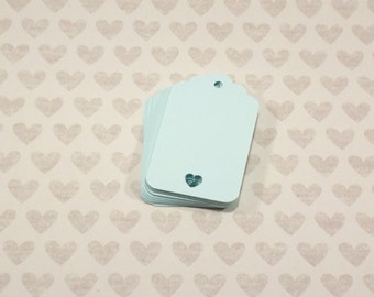 25 Light Blue Tags, Scalloped Gift Tag, Heart Tag, Paper Tag, Swing Tag, Wedding Favor Tag, Wedding Decor, Bridal Shower, Wedding Shower