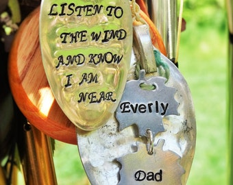 MELODY from Heaven Memorial garden wind chime gift after loss custom gift loss of loved one family in memory of