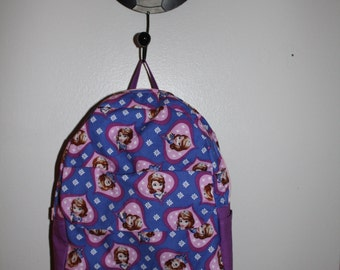 Kids Backpack, Toddler Backpack, Preschooler Backpack, Sofia the first Backpack, Sofia the first