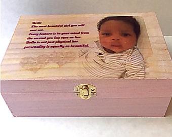Personalized, keepsake, box, baby gift Wood Box, Nursery gift,  Baby gift, Gift for baby,  birthday gift, Unique baby gift