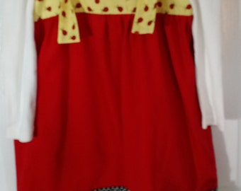 Corduroy and cotton jumper with ladybugs